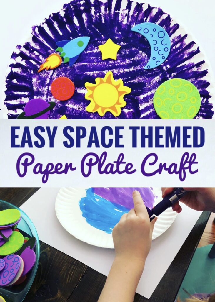 Easy Space Themed Paper Plate Craft