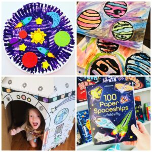 Easy Space themed Crafts and Activities for Kids