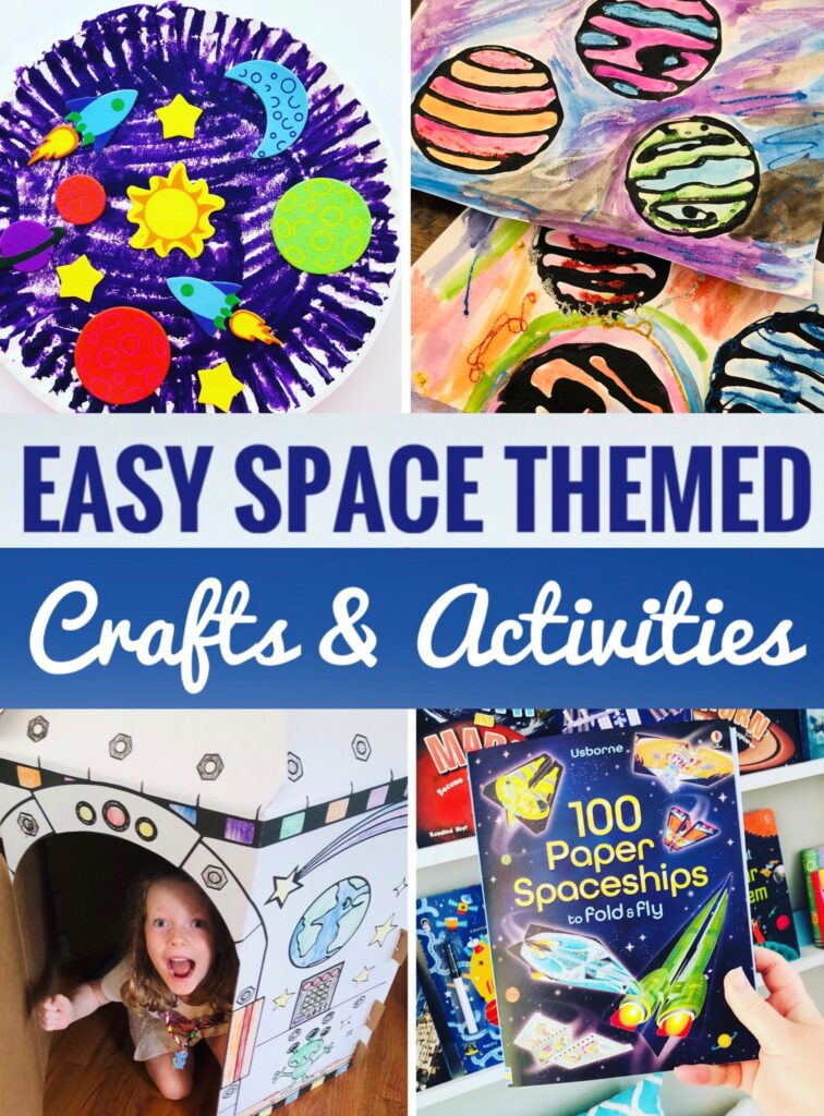 Easy Space Themed Crafts and Activities