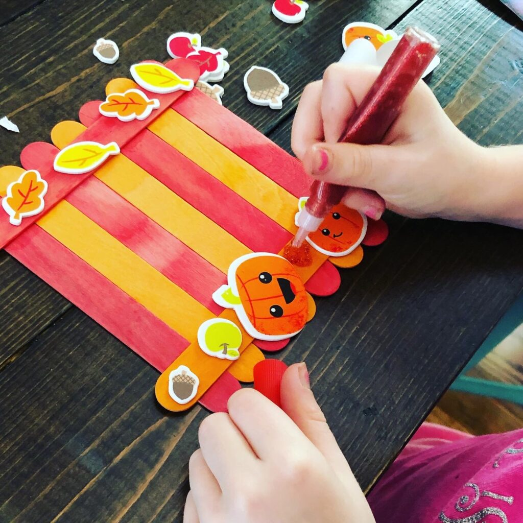 Easy Fall Popsicle Stick Frame Craft