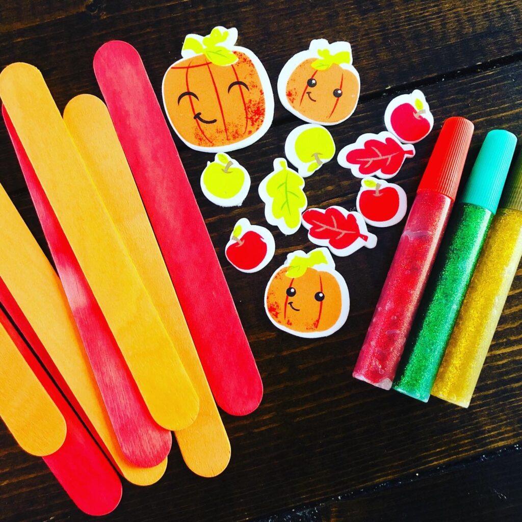 Craft Stick Foam Stickers Fall Activity