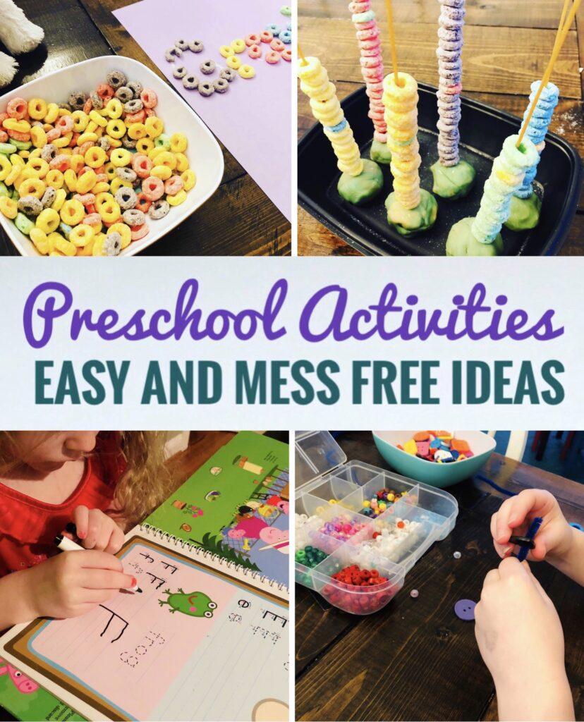 Preschool Activities to do at home