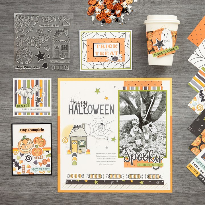 Halloween Scrapbook Page Ideas