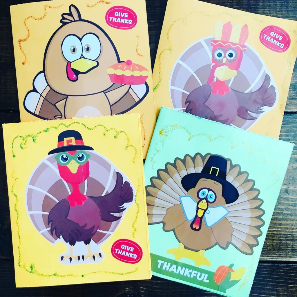 Thanksgiving Turkey Cards for Kids to Make