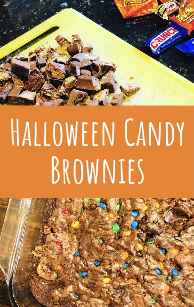 Leftover Halloween Candy Brownies