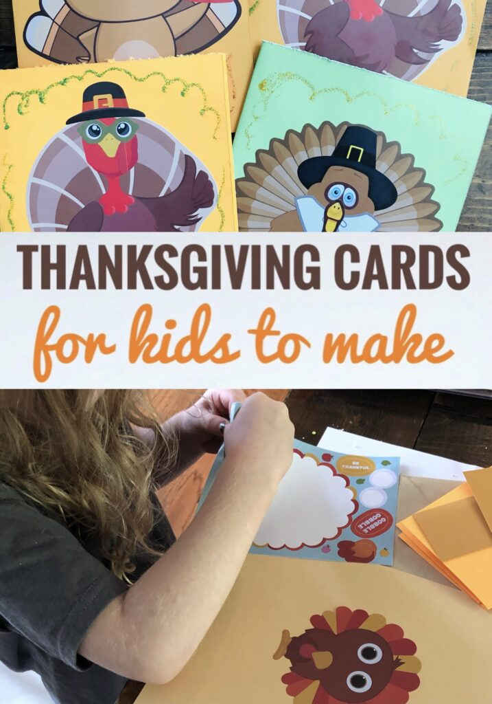 Easy Thanksgiving Cards for Kids to Make