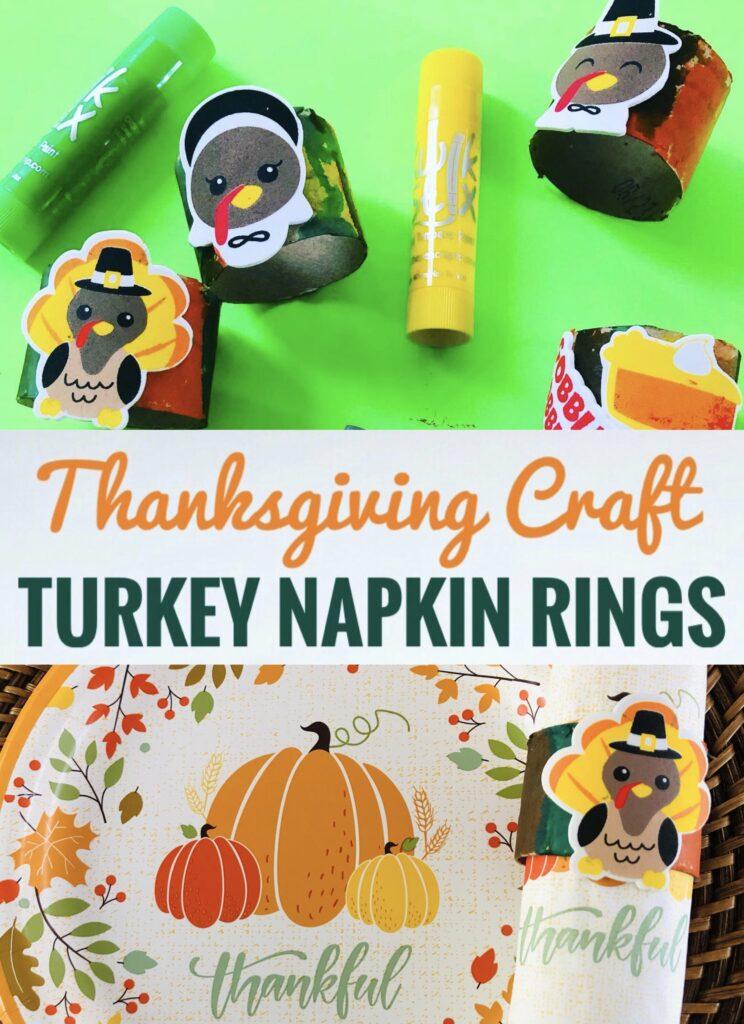 Turkey Napkin Ring Thanksgiving Craft for Kids