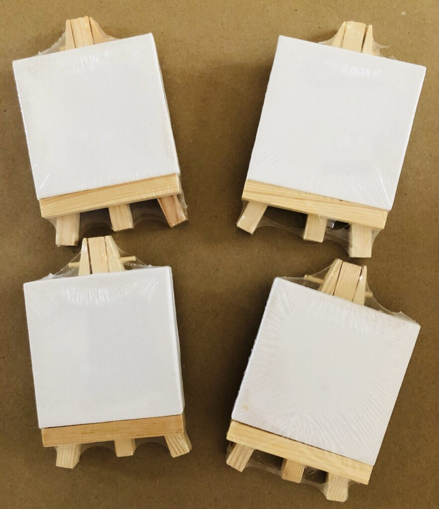 Mini Canvas with Easel Craft