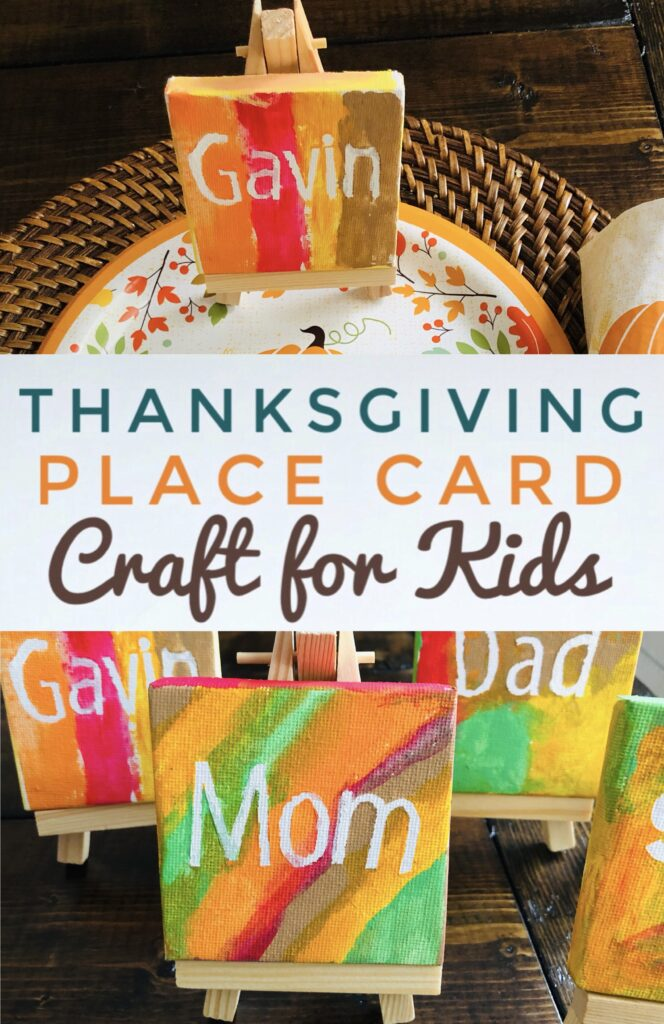 DIY Thanksgiving Place Card Craft for Kids