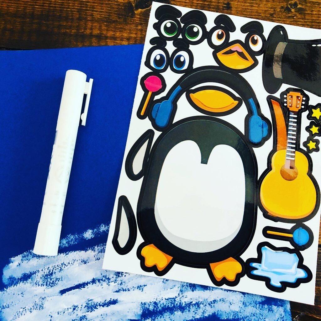 Create a Penguin Sticker Art