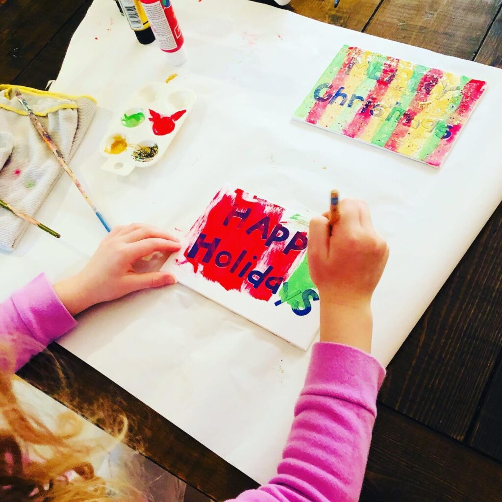 Christmas Painting Activity for Kids