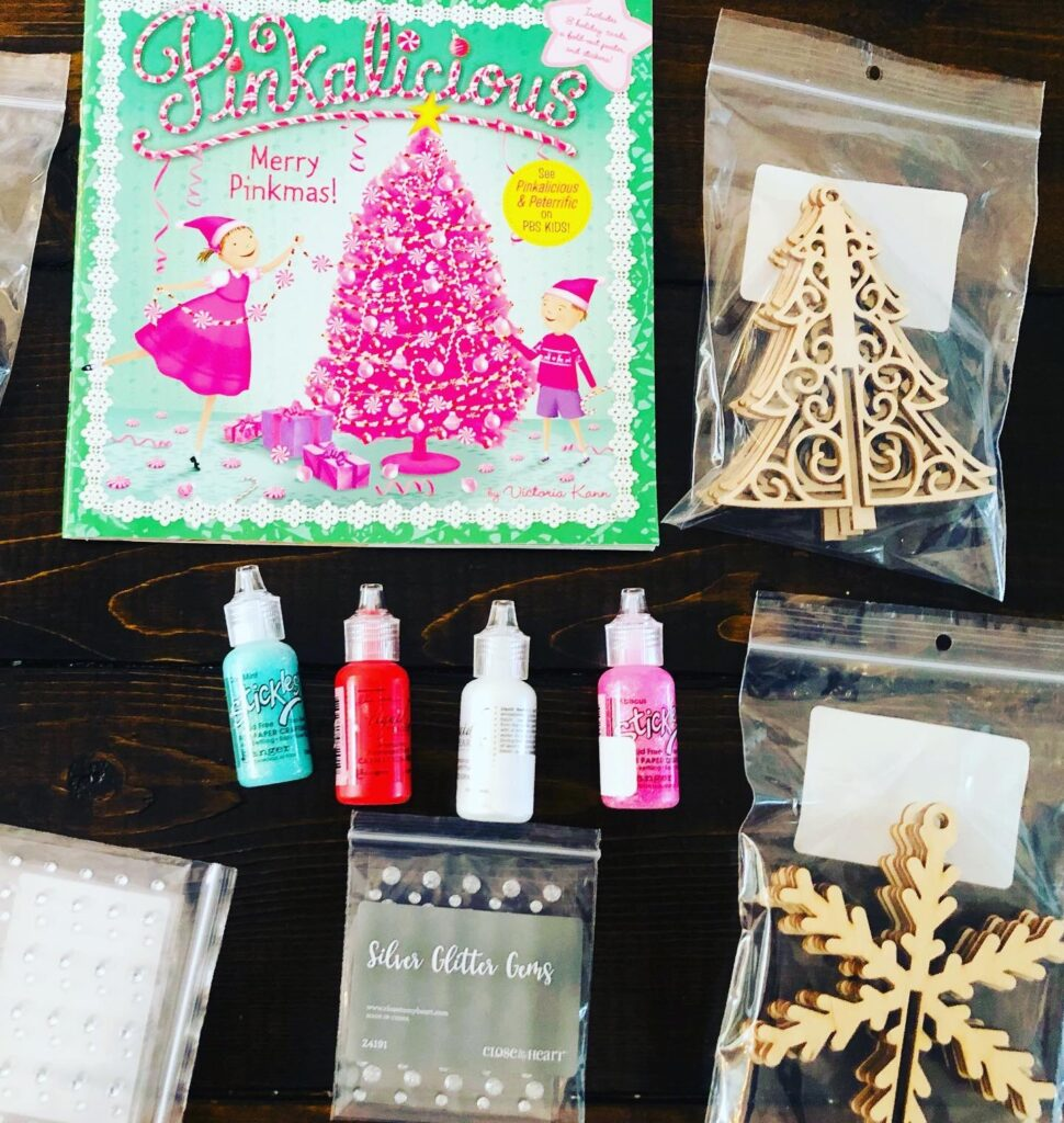 Sparkly 3-D Wooden Ornament Craft Supplies