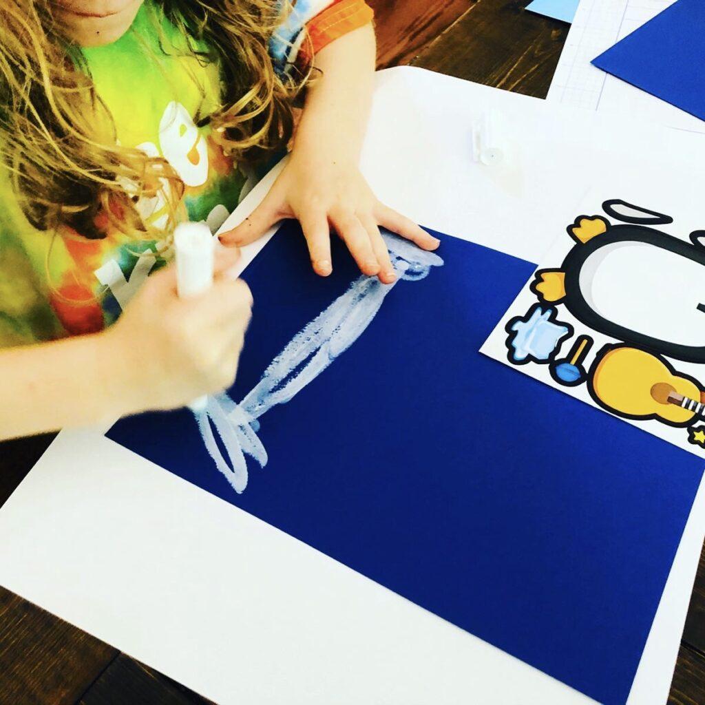 Easy Penguin Art Activity for Kids