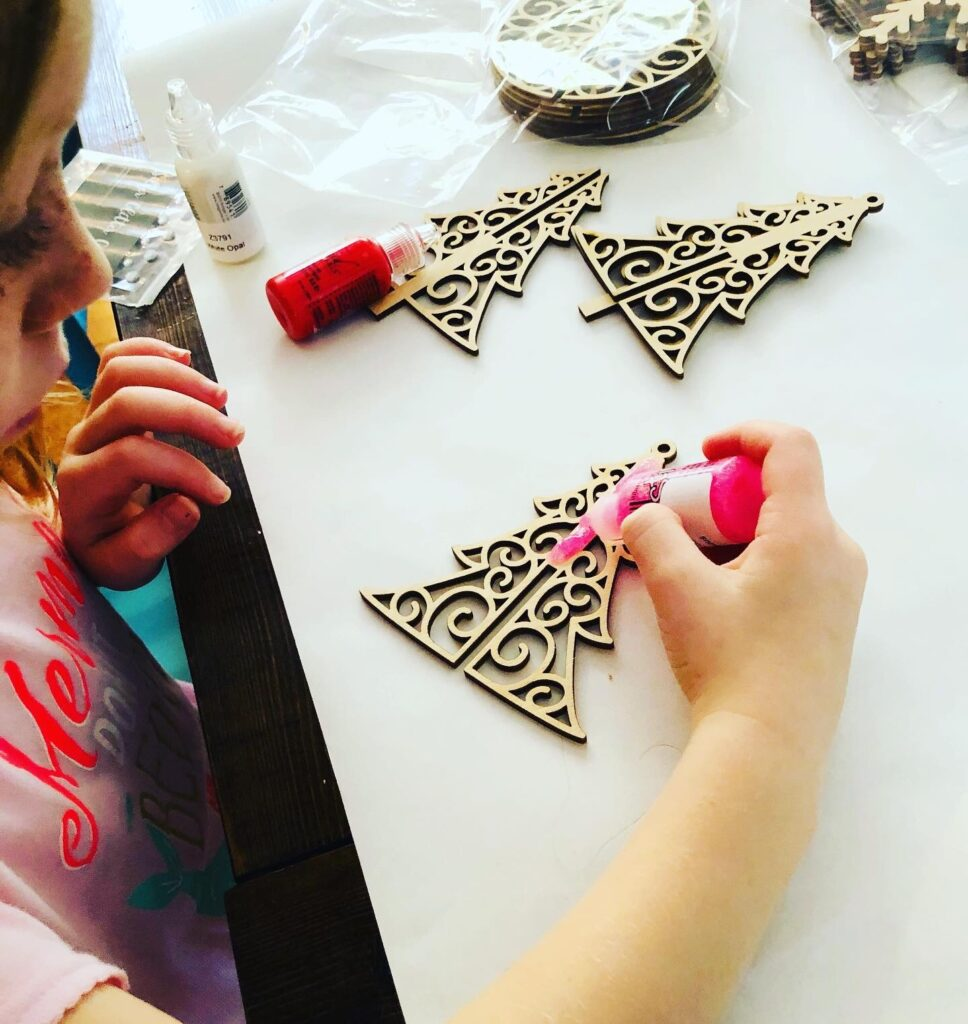 Glitter Ornament Craft for kids