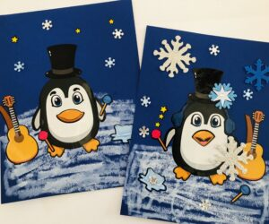 Easy Penguin Artwork for Kids