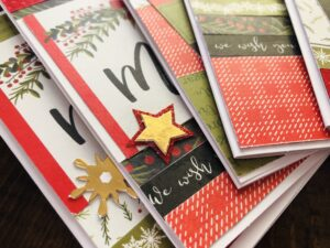 Quick Holiday Cards Using Paper Scraps