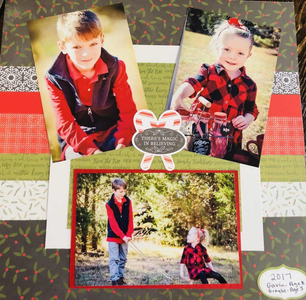 Holiday Scrapbooking Kit Page