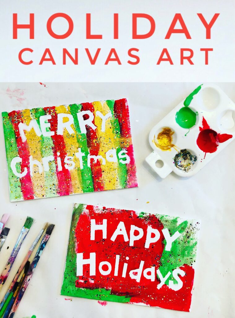 Holiday Canvas Art Project for Kids Activity