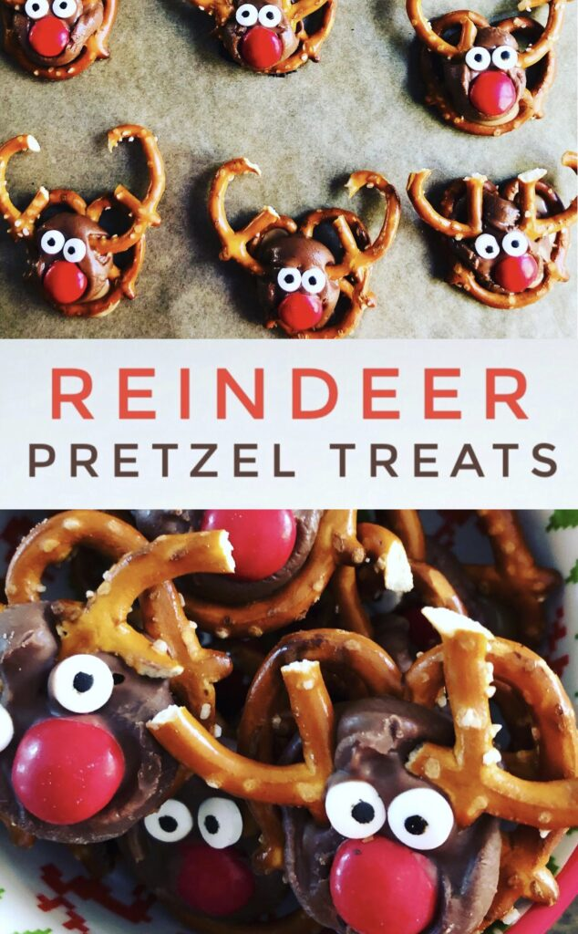 Reindeer Pretzel Holiday Treats