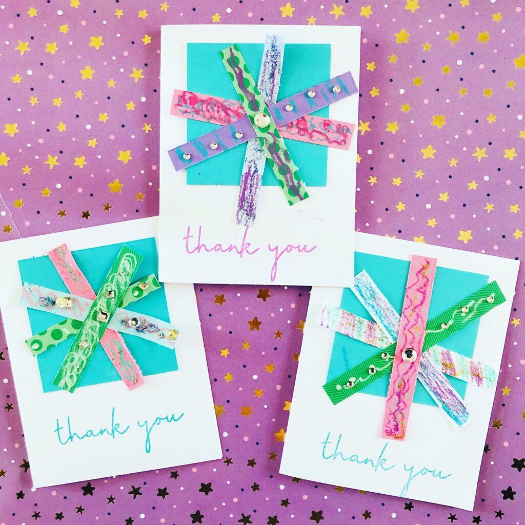 Snowflake Paper Scrap Cards
