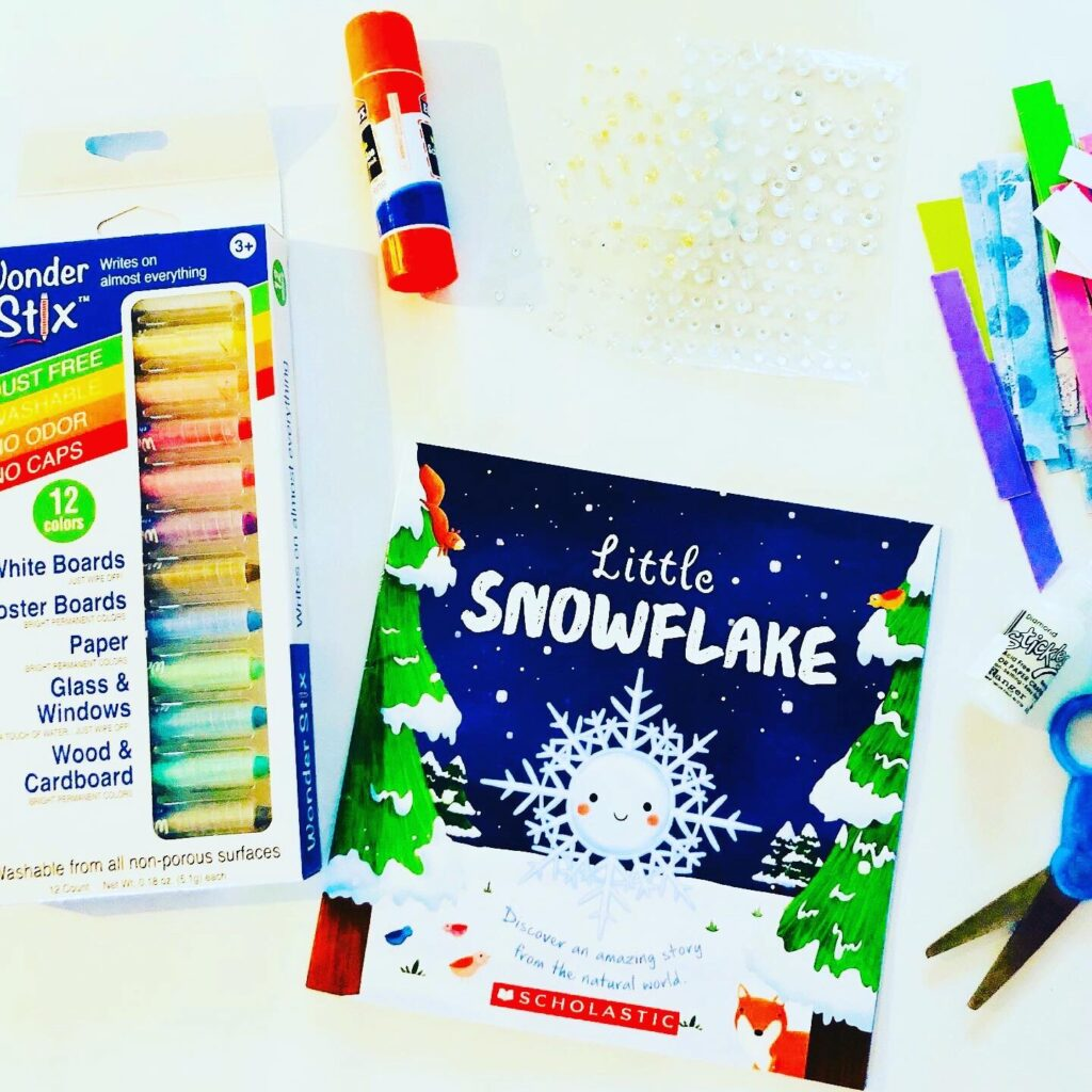 Easy Snowflake Literacy Craft