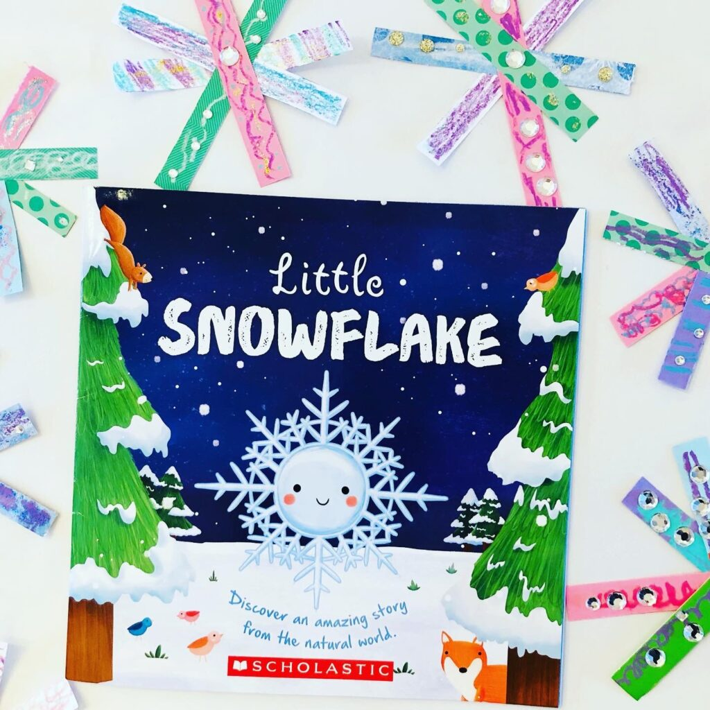 Paper Strip Snowflakes Book Craft