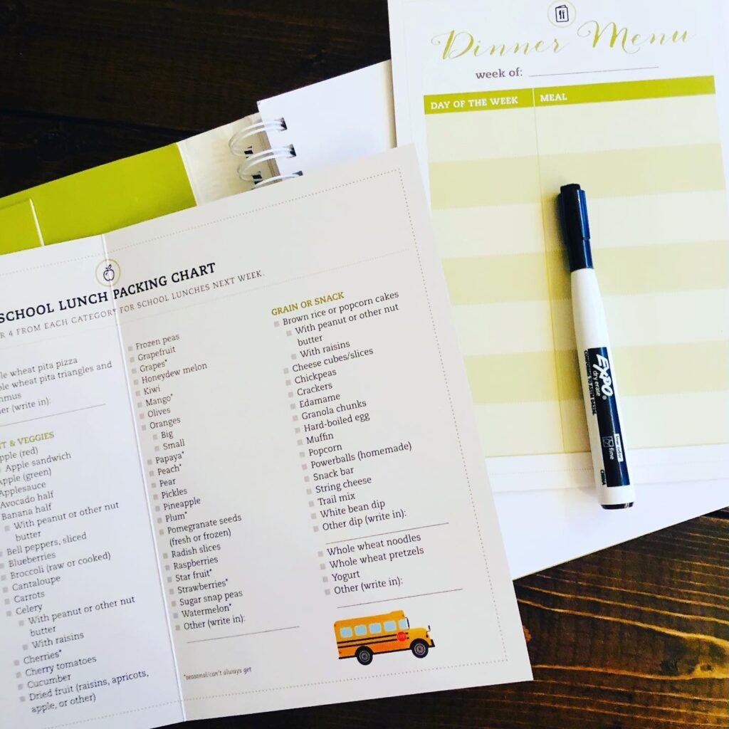 Meal Planning Workbook