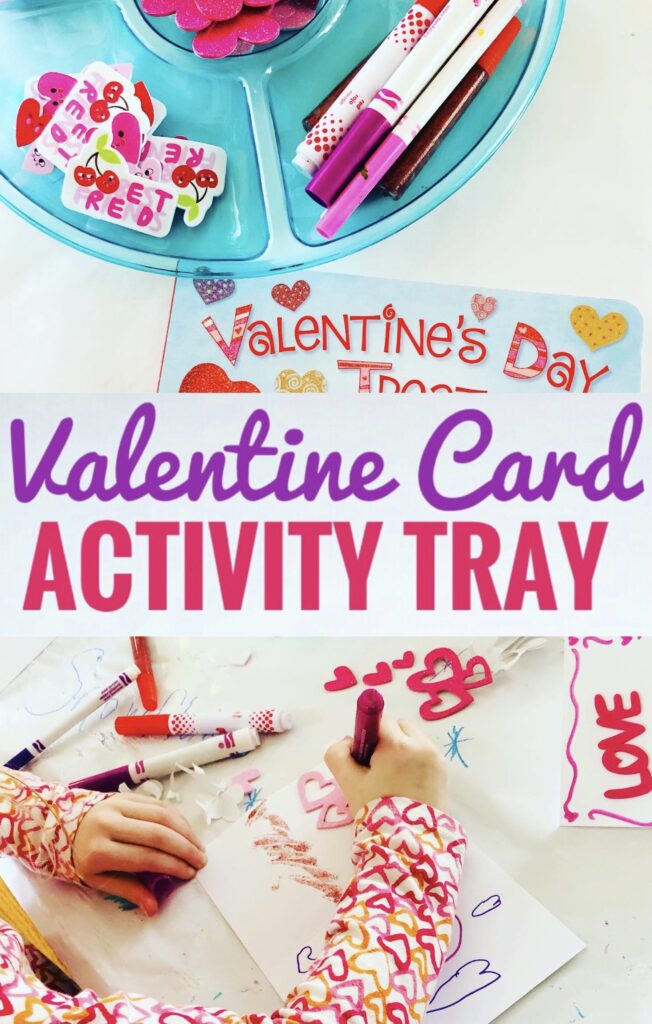 Valentine Card Activity Tray for Kids