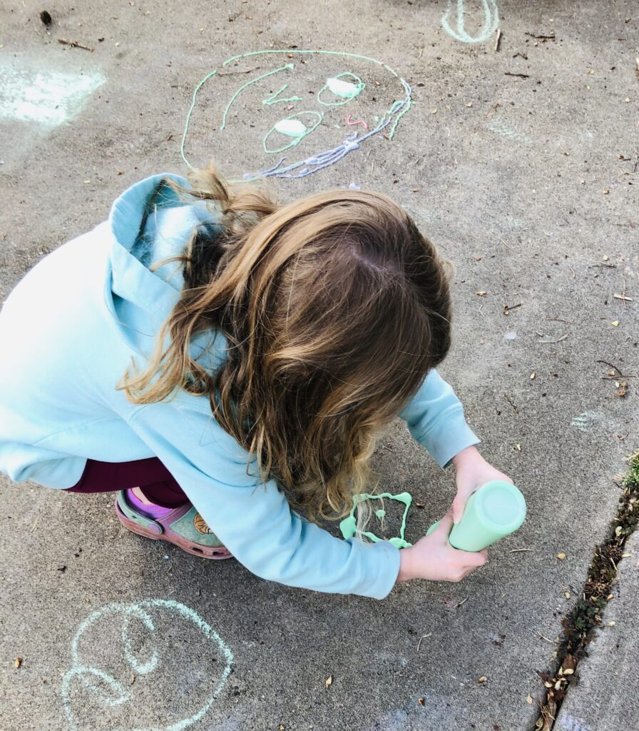 Playing with Sidewalk Puffy Paint
