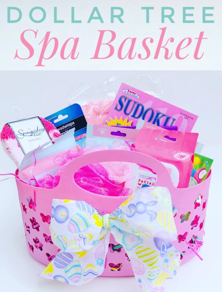 DIY Dollar Tree Spa Basket