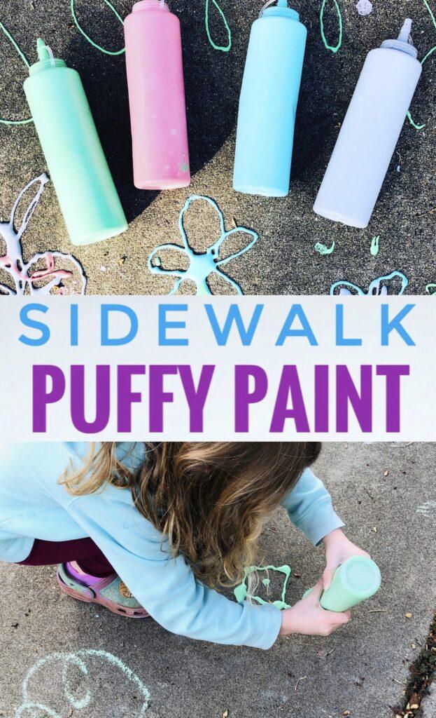 How to make DIY Sidewalk Chalk Puffy Paint