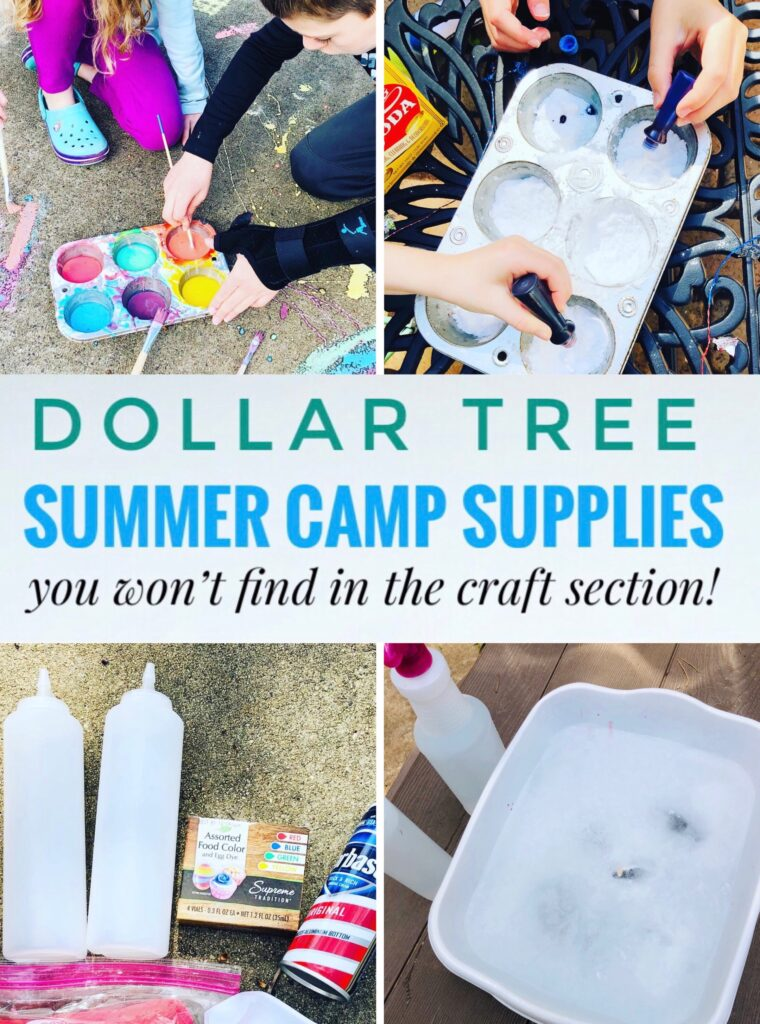 Dollar Tree Summer Camp Supplies Not in the Craft Section