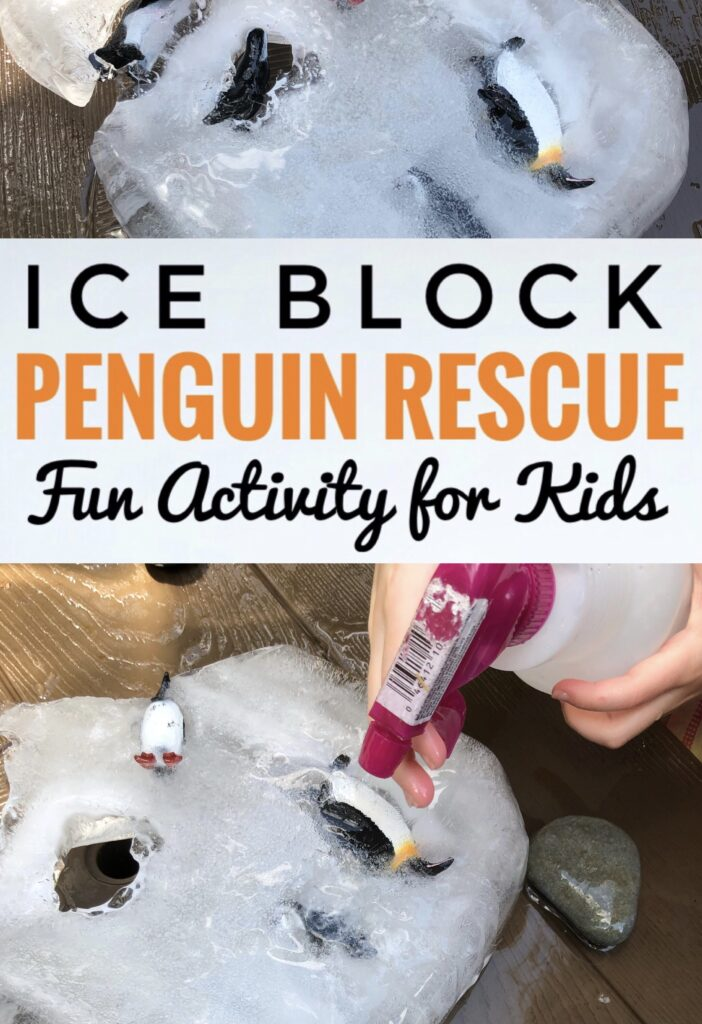 Penguin Rescue Ice Block Activity for Kids