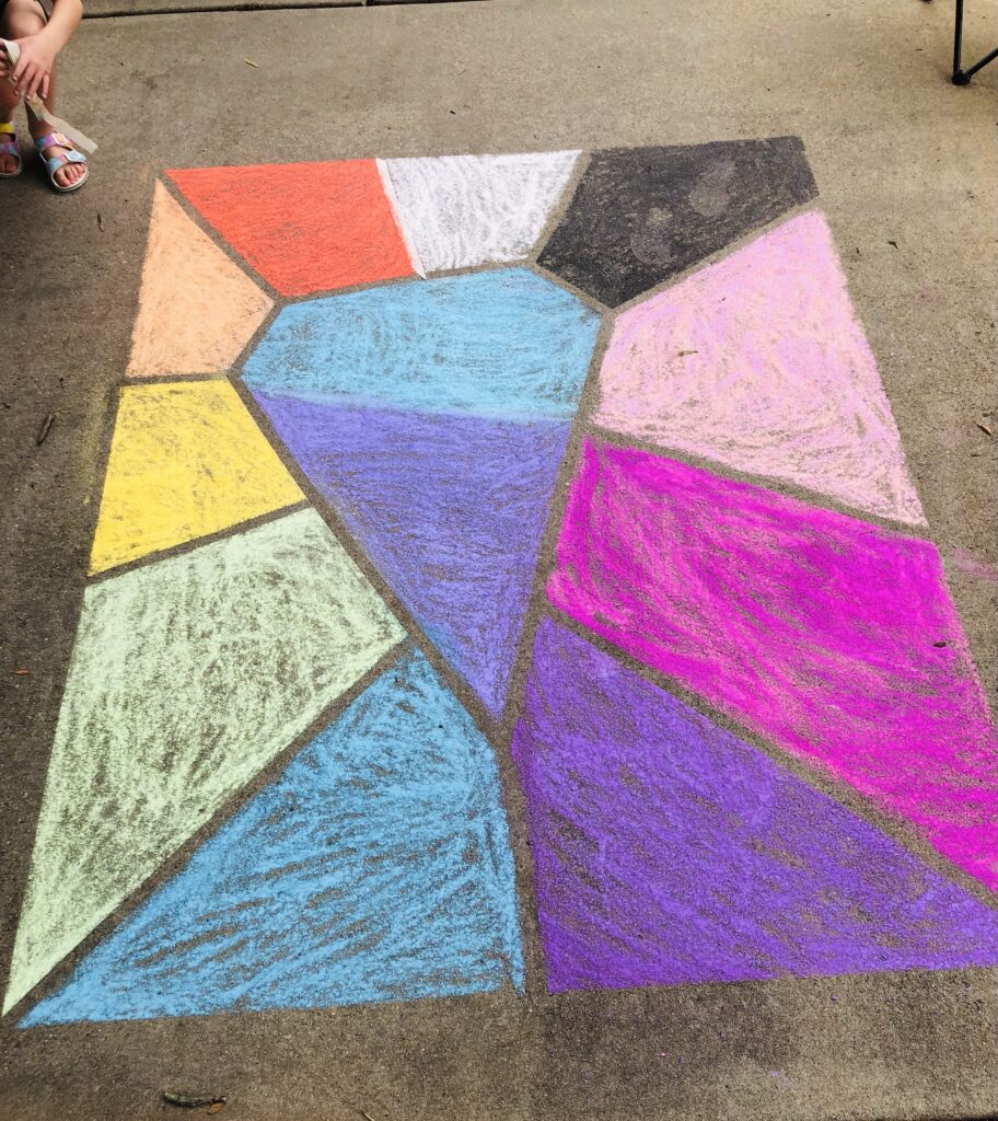 Sidewalk Chalk Art Summer Activity
