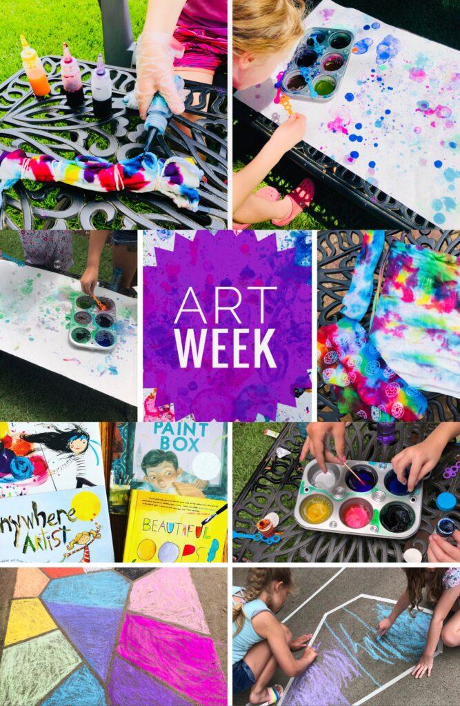 Summer Camp Art Week Activities for Kids