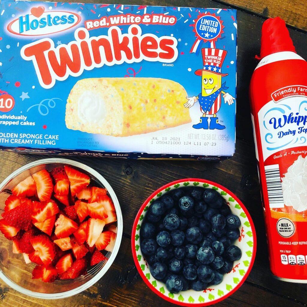 Patriotic Parfaits with Twinkies