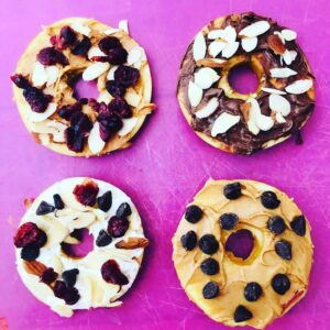 Apple Donuts Healthy Recipe for Kids