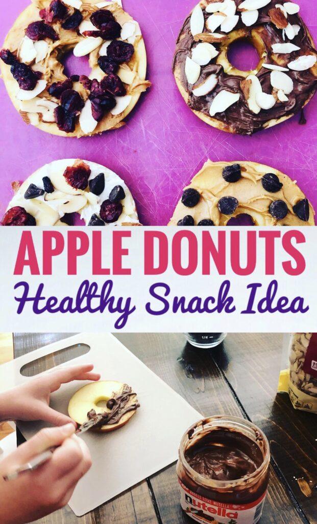 Apple Donuts Healthy Snack Idea